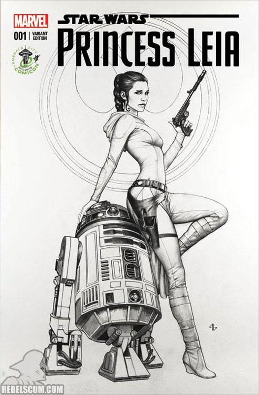 Princess Leia 1 (Adi Granov Emerald City Comic Con sketch variant)