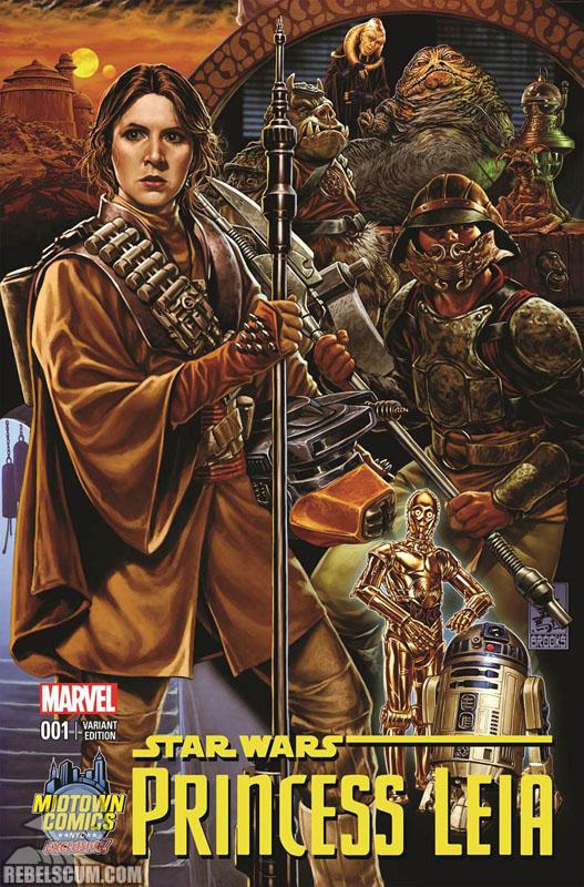 Princess Leia 1 (Mark Brooks Midtown Comics variant)