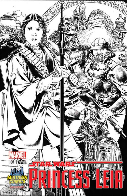 Princess Leia 1 (Mark Brooks Midtown Comics sketch variant)