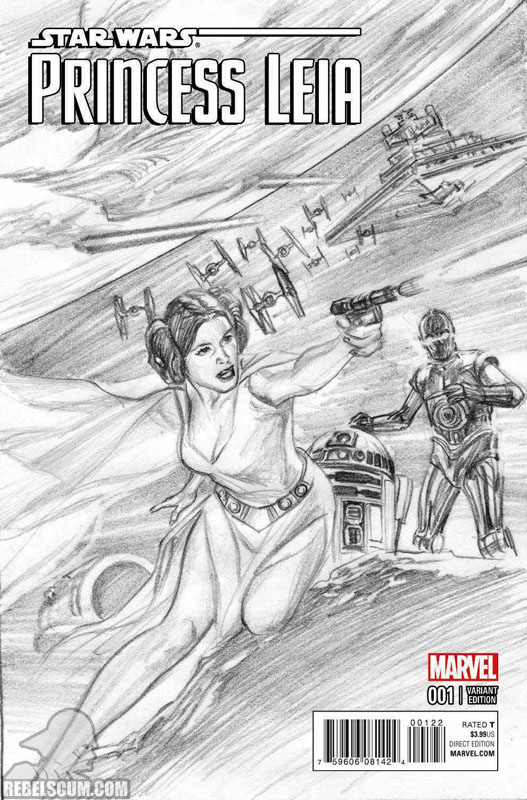 Princess Leia 1 (Alex Ross sketch variant)