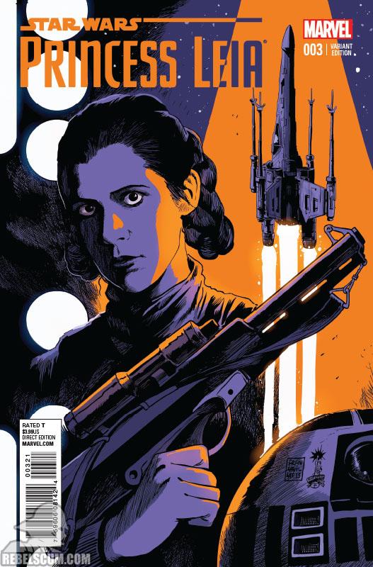 Princess Leia 3 (Francesco Francavilla variant)