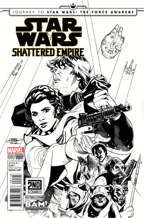Shattered Empire 1 (Terry Dodson Books-A-Million/2nd & Charles sketch variant)