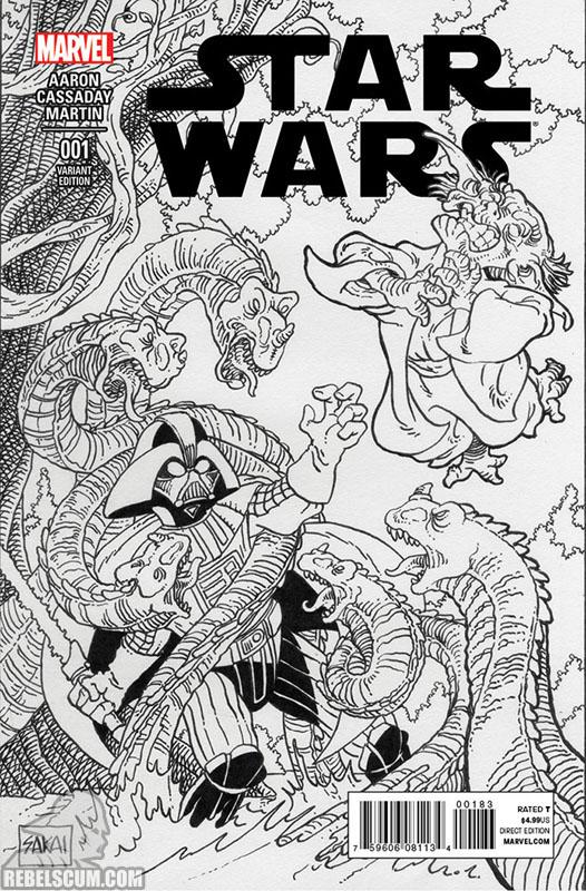 Star Wars 1 (Stan Sakai Beach Ball Comics sketch variant)
