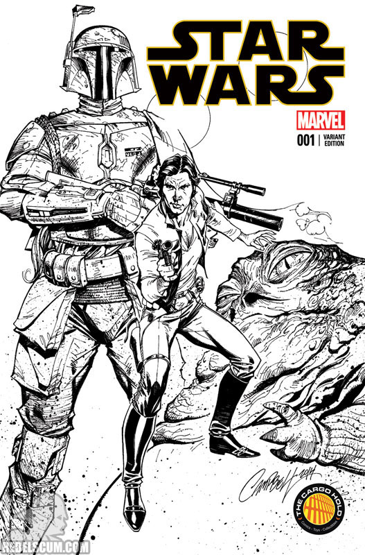 Star Wars 1 (J. Scott Campbell The Cargo Hold black/white variant)