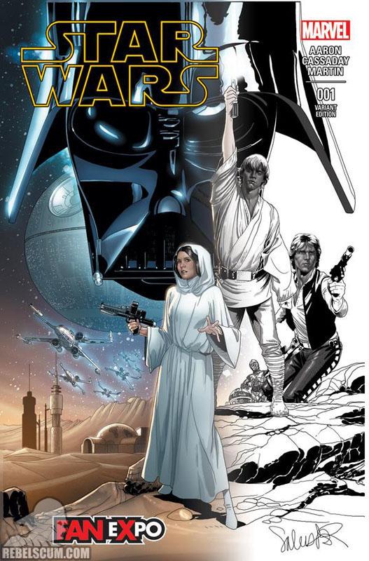 Star Wars 1 (Salvador Larroca Dallas Comic Con sketch-fade variant)
