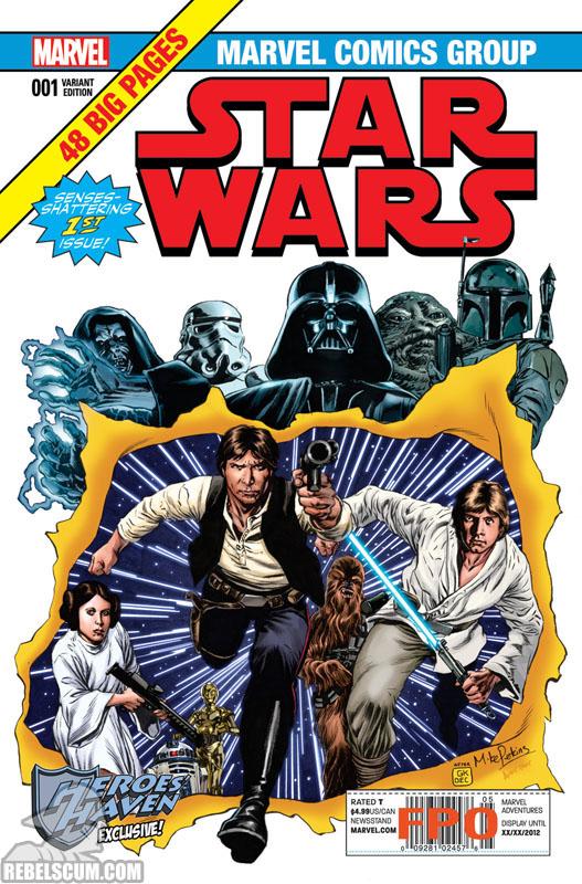 Star Wars 1 (Mike Perkins Heroes Haven Comics variant)