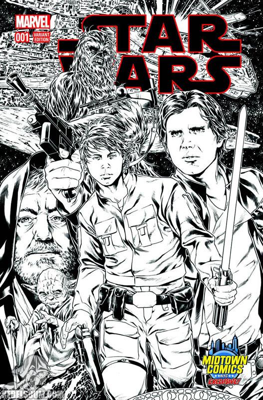 Star Wars 1 (Mark Brooks Midtown Comics sketch variant)