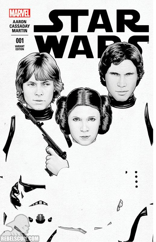 Star Wars 1 (John Tyler Christopher ComicXposure black/white variant)