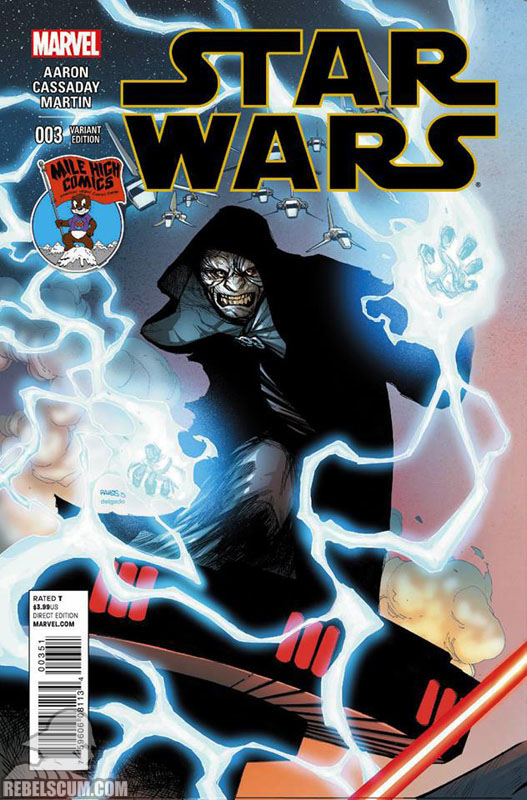 Star Wars 3 (Humberto Ramos Mile High Comics variant)