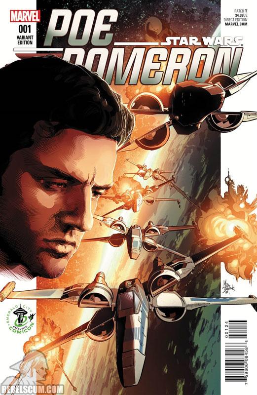 Poe Dameron 1 (Mike Deodato Emerald City Comic Con variant)