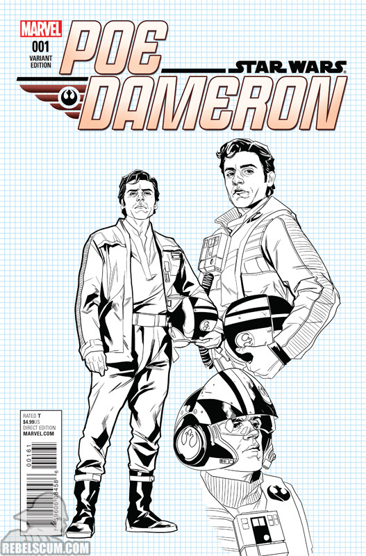 Poe Dameron 1 (Phil Noto Character Design variant)
