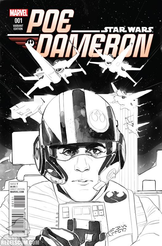 Poe Dameron 1 (Phil Noto sketch cover)