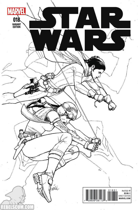 Star Wars 18 (Leinil Yu Sketch variant)