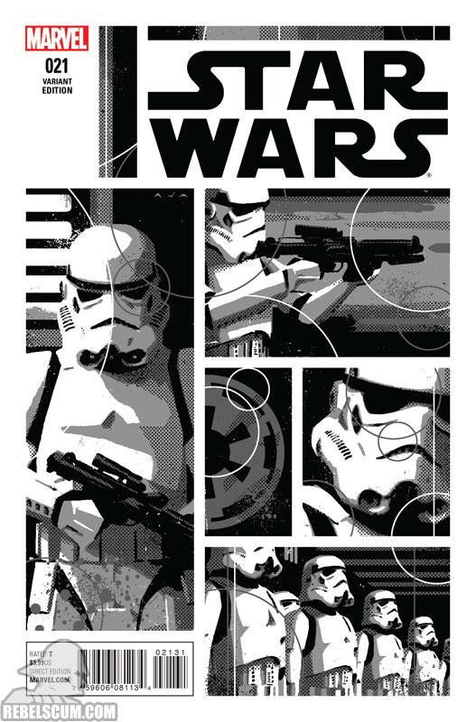 Star Wars 21 (David Aja Black & White variant)
