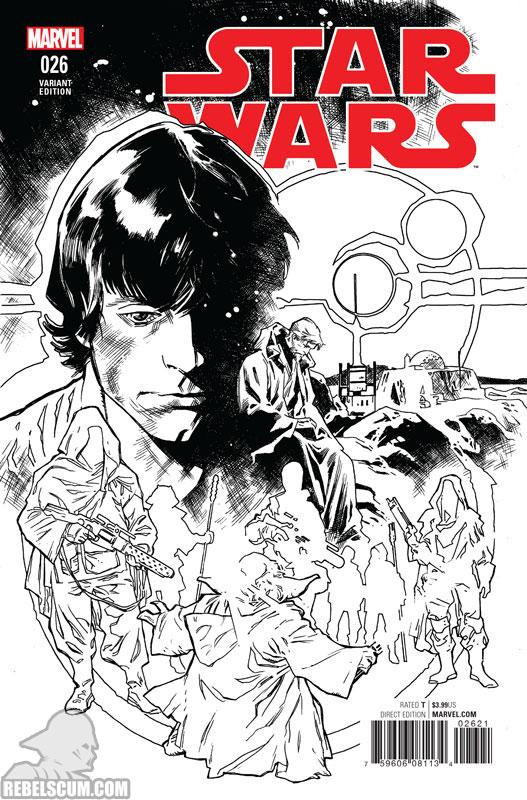 Star Wars 26 (Stuart Immonen Black & White variant)