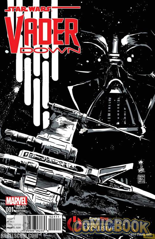 Vader Down 1 (Francesco Francavilla GameStop Power-Up Sketch variant)