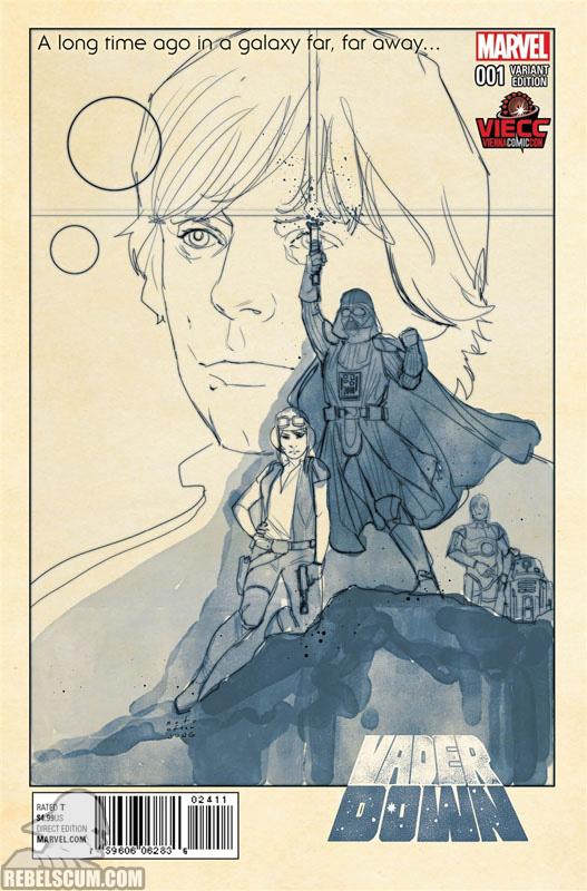 Vader Down 1 (Phil Noto Vienna Comic Con Black & White variant)