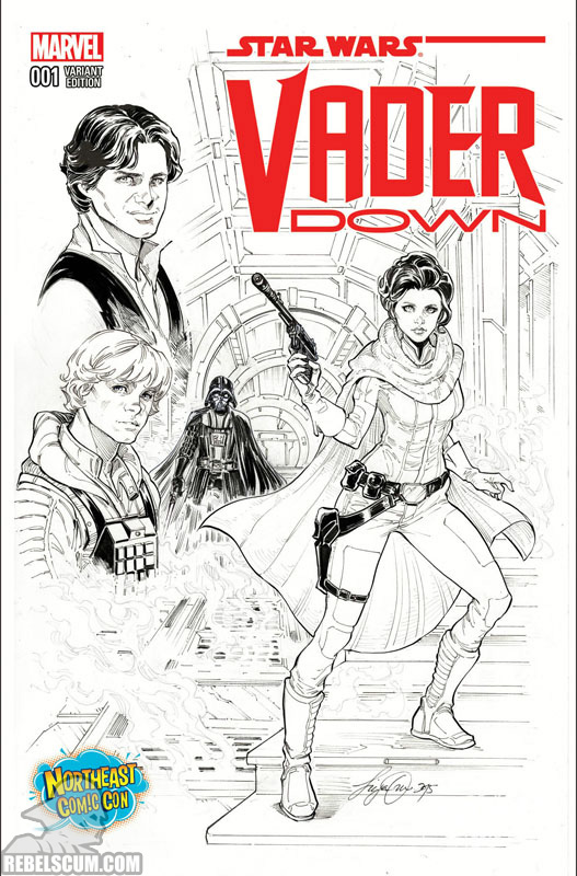 Vader Down 1 (Siya Oum Northeast Comic Con sketch variant)