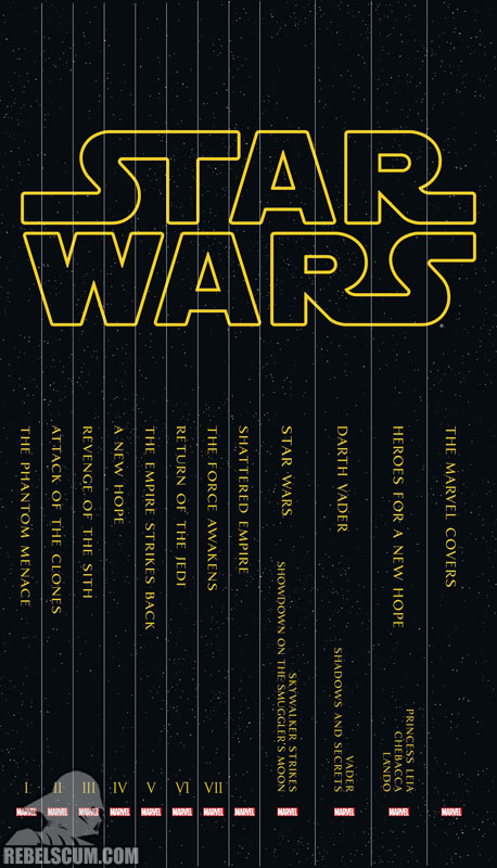 Star Wars Box Set Slipcase (Spine View)