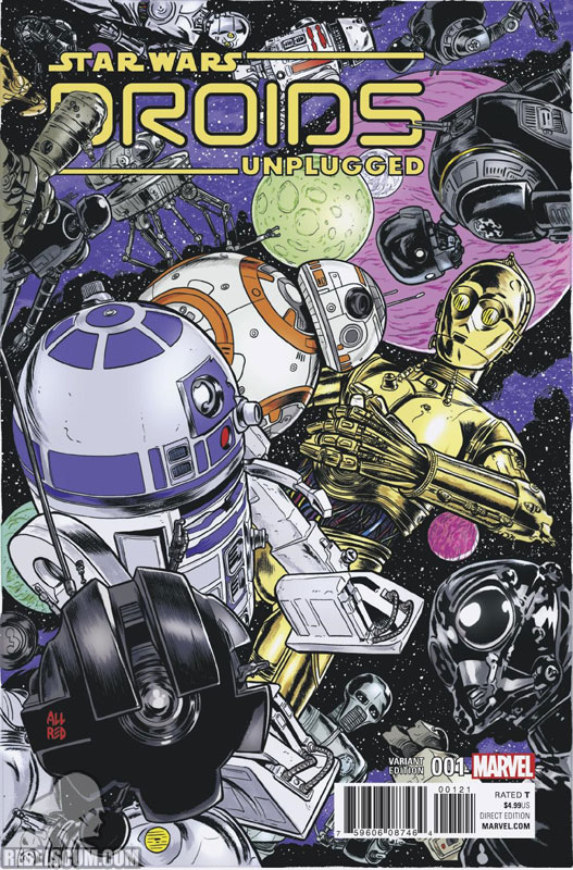 Droids Unplugged (Mike Allred variant)