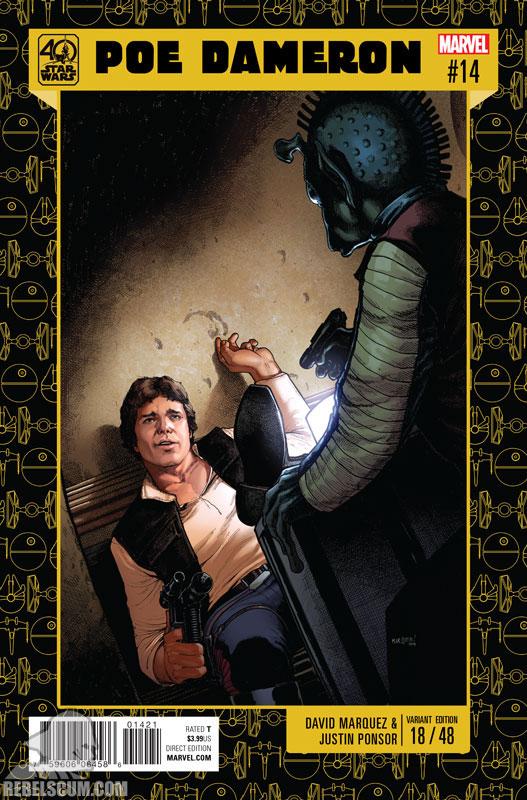 Poe Dameron 14 (David Marquez 40th Anniversary variant)