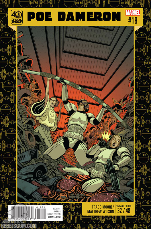 Poe Dameron 18 (Tradd Moore 40th Anniversary variant)