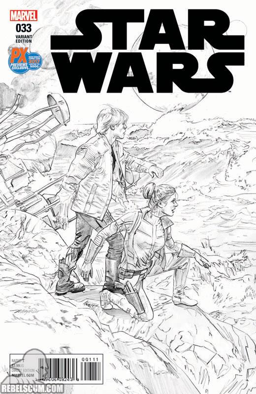 Star Wars 33 (Mike Mayhew SDCC 2017 Black & White variant)