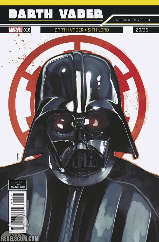 Darth Vader: Dark Lord of the Sith 18 (Rod Reis Galactic Icon variant)