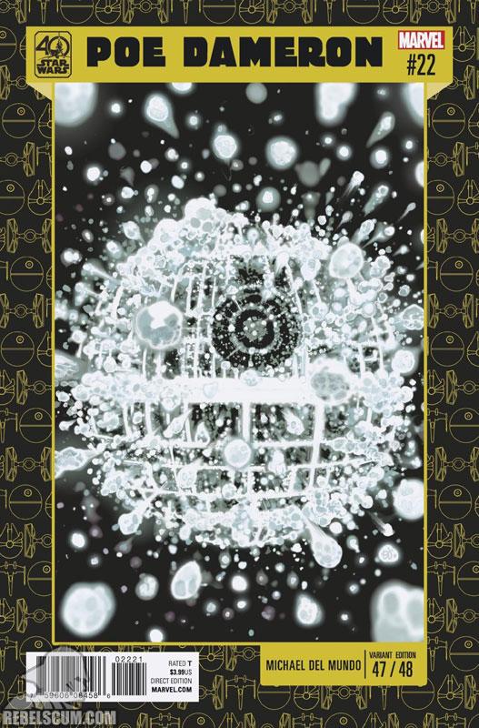 Poe Dameron 22 (Mike Del Mundo 40th Anniversary variant)