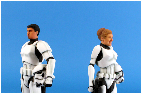 Disney D-Tech Me Stormtrooper - Chris Wyman And Wife Courtney In Stormtrooper Disguise