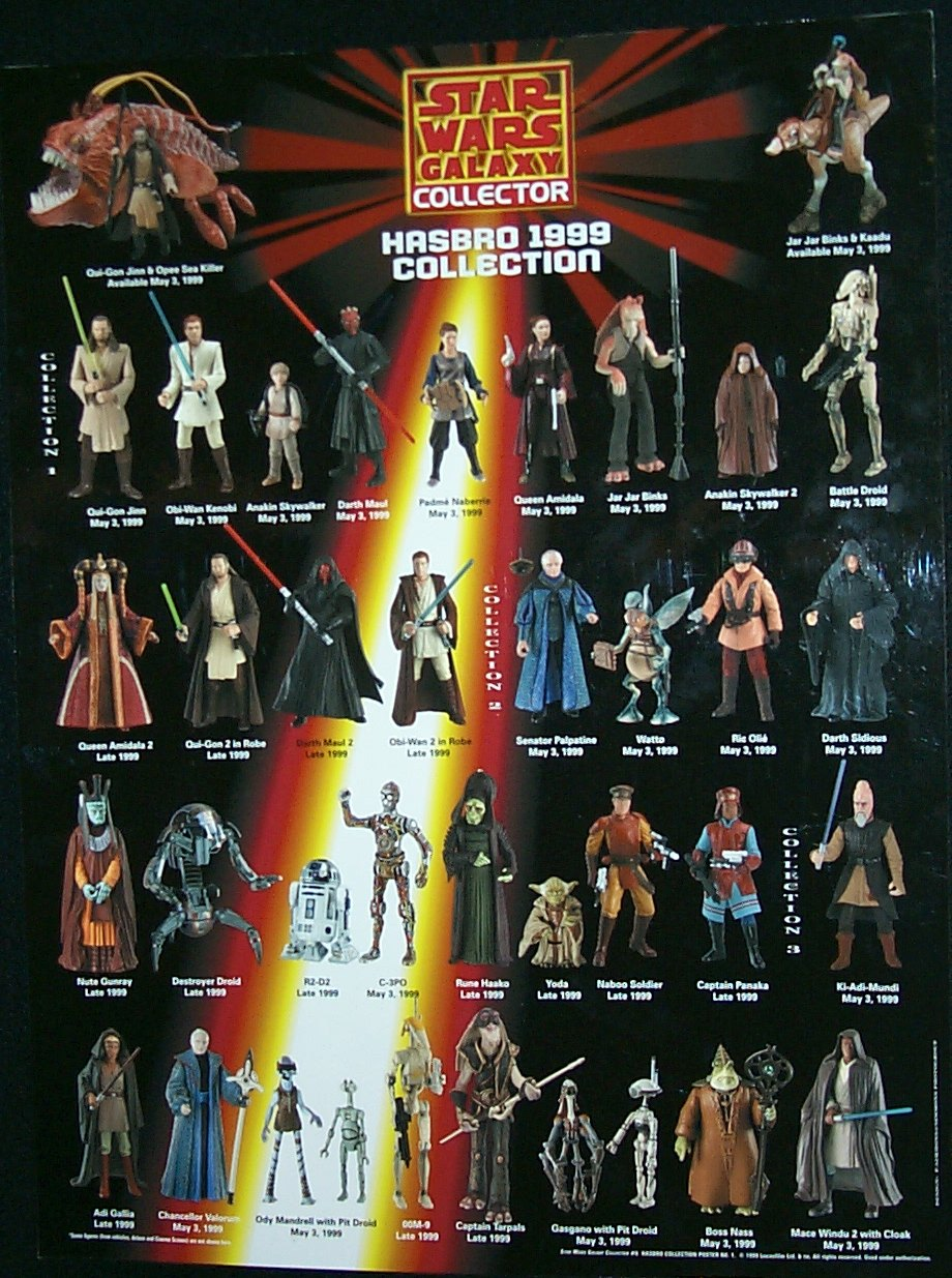 Star Wars Galaxy Collector Hasbro 1999 Collection Poster
