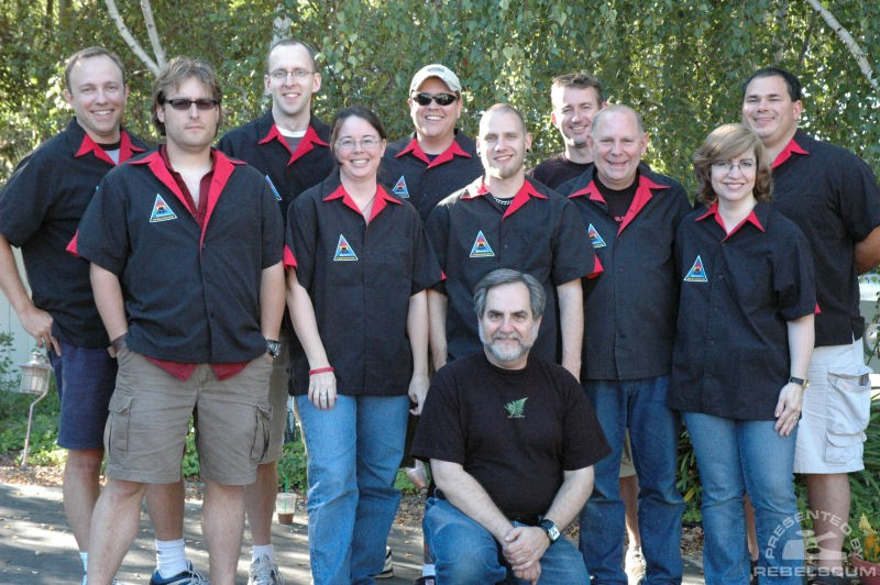 Back Row (left to right): Jay Shepard, Chris H, Dustin Roberts, Jeremy Beckett, Dan Curto. <br>Middle Row: Dave Myatt, Anne Neumann, Shane Turgeon, Philip Wise, Maureen Kuppe. <br>Front Row: Steve Sansweet