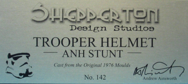 Shepperton Design Studios Stunt Trooper Helmet - Plaque