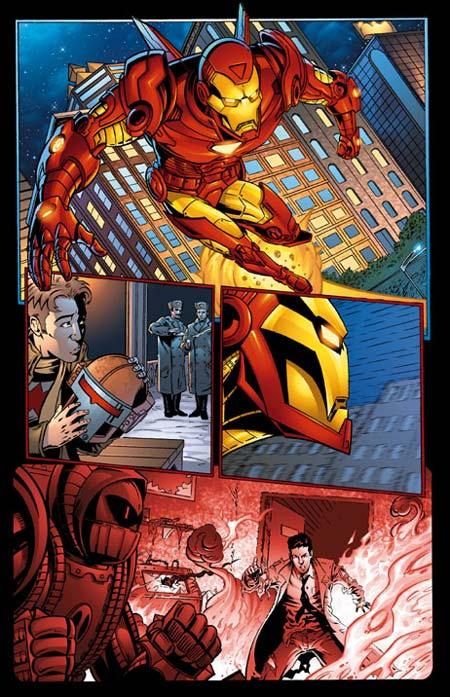 Crimson Dynamo No.5 Page 15 (pencil/digital color)