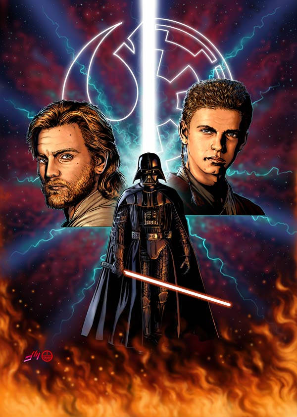 Revenge of the Sith (pencil/digital color)