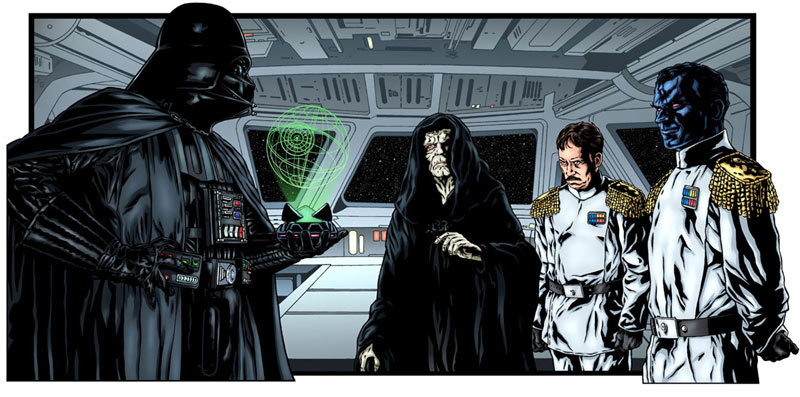 Lord Vader Meets Grand Admiral Thrawn (pen and ink/digital color)