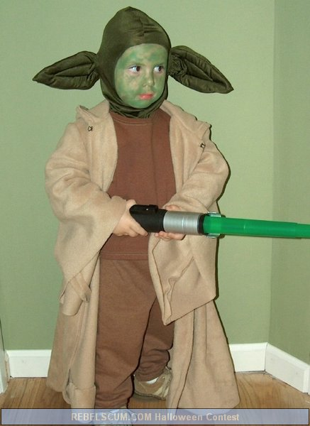 Arron as Yoda