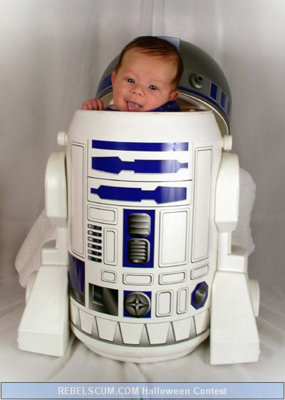 Baby Mike as R2-D2