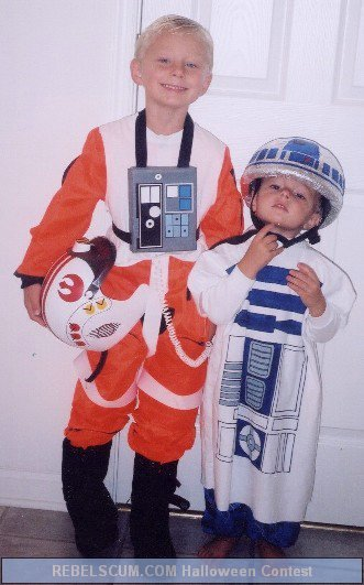 Paul and Luke as X-Wing Pilot and R2-D2