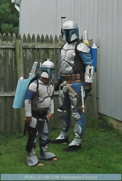 Yuri and Ethan as Jango and Boba Fett