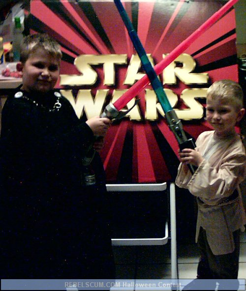 Darth as Dooku and Luke as Anakin