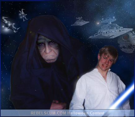 Davin and John as The Emperor and Luke