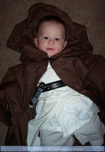 Baby Mike as a young Padawan