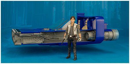 Han Solo's Landspeeder - Star Wars Universe 3.75-inch class B vehicle set from Hasbro