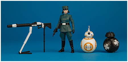 Rose (First Order Disguise), BB-8, & BB-9E - ForceLink 2.0 3.75-inch action figure set from Hasbro