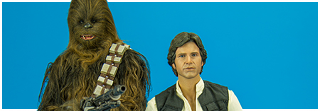 MMS263 Han Solo & Chewbacca 1/6 Scale Collectible Figures from Hot Toys