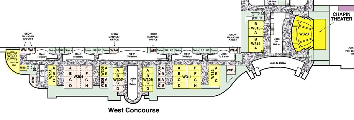 Celebration VI - Center Map - Level 3 (Panels, Chapin Theater)