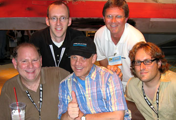 L to R: Philip Wise, Chris Holoka, Mark Hamill, Mark Hurray, Dave Myatt