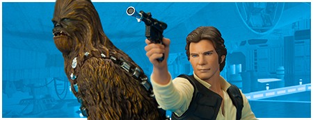 Han Solo & Chewbacca ARTFX+ set from Kotobukiya