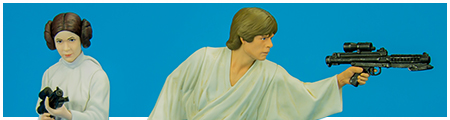 Luke Skywalker & Princess Leia: A New Hope ARTFX+ Model Kit from Kotobukiya